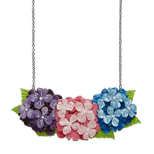 Heartfelt Hydrangea Necklace by Erstwilder | Purple Pink BlueFlower Floral