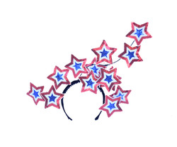 Surreal Red White Blue Applique Stars He