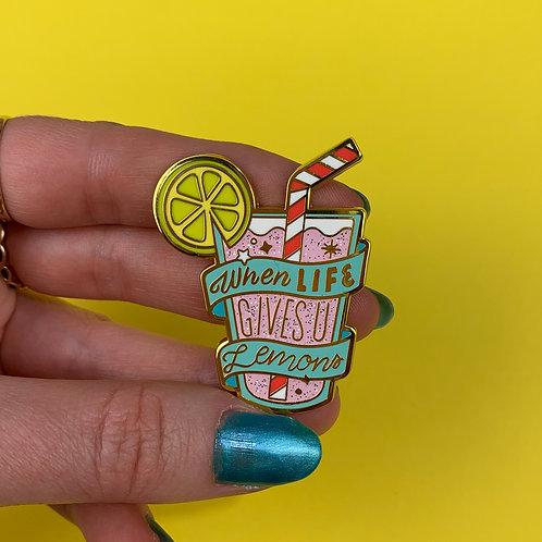 When Life Gives U Lemons Enamel Pin by Erstwilder | Pink Lemonade