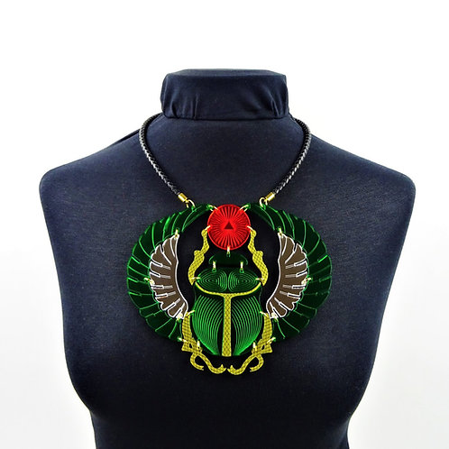Scarab Beetle Necklace by MissJ Designs | Egyptian Collect