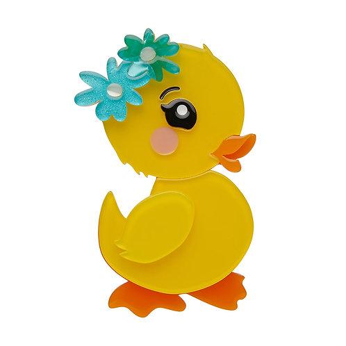 Waddlesworth Jr. Brooch by Erstwilder | Yellow Bird Duckling