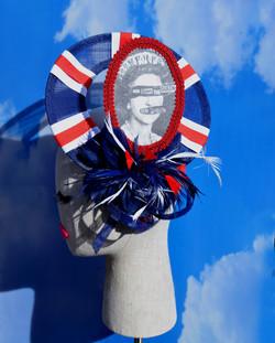 Sex Pistols Punk God Save The Queen Union Jack Open Window Derby Hat (2)
