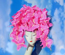 Pink McQueen Butterfly Headpiece