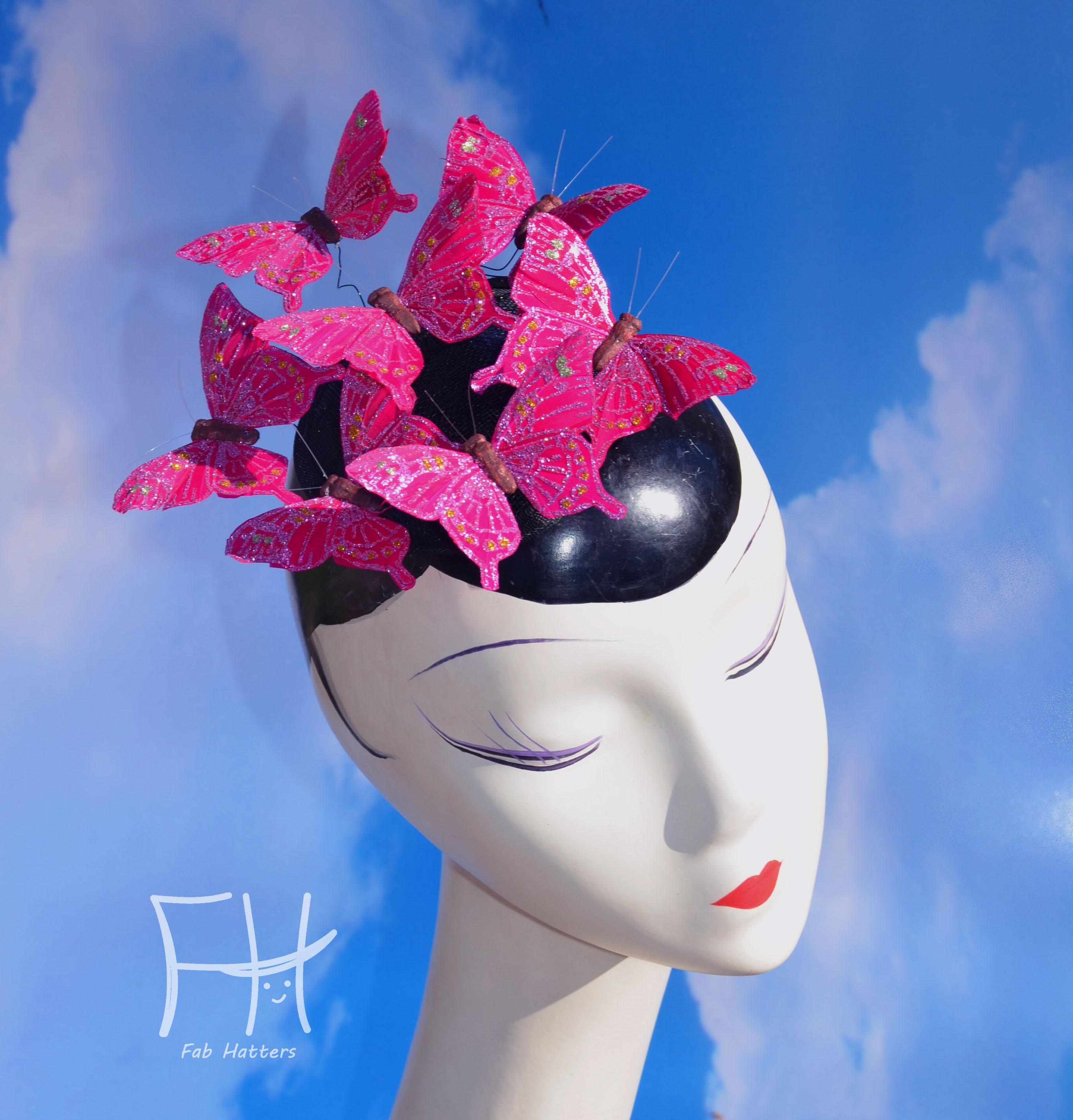 Pink Glitter Butterfly Fascinat