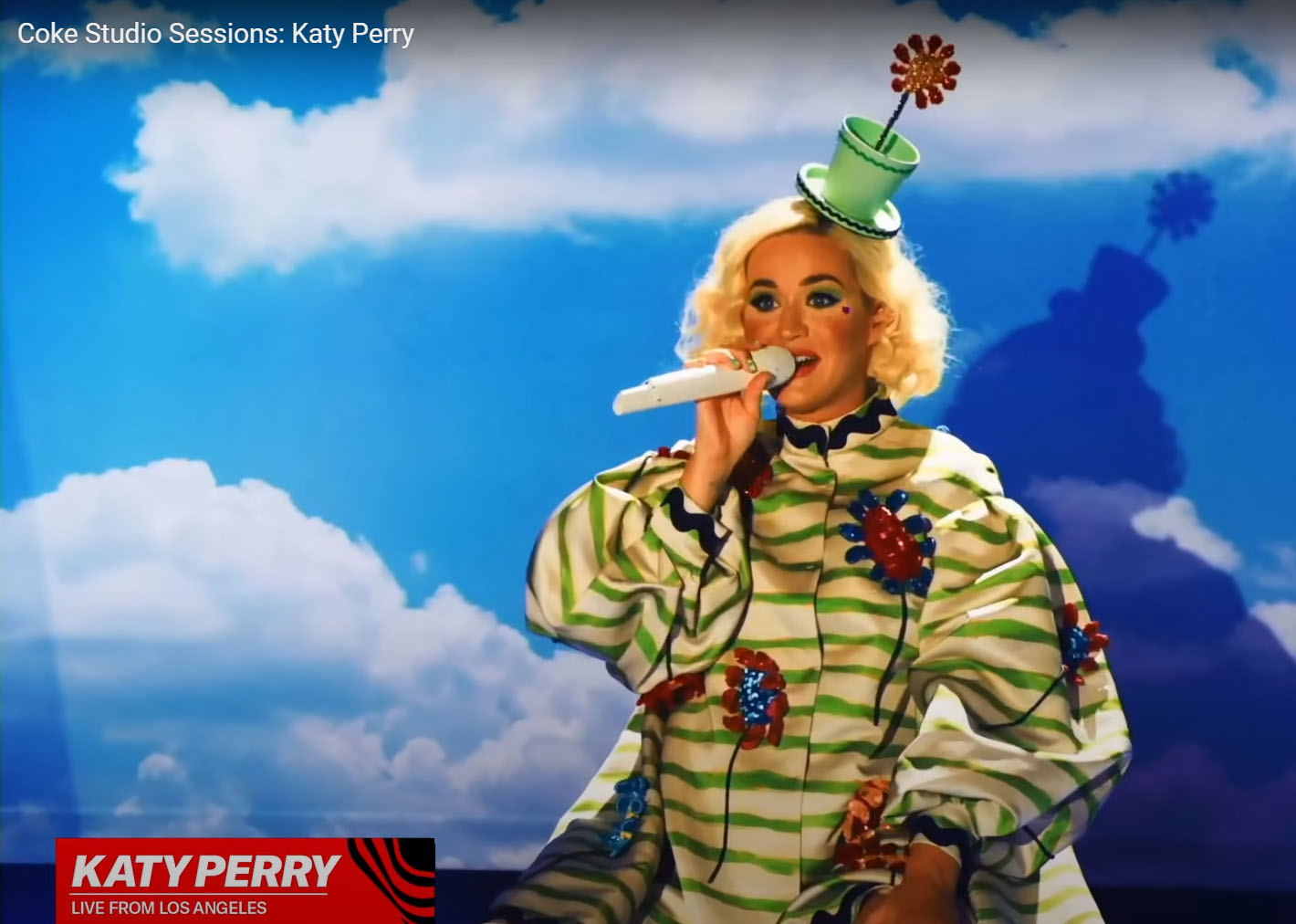 Katy Perry in Flower Pot Top Hat