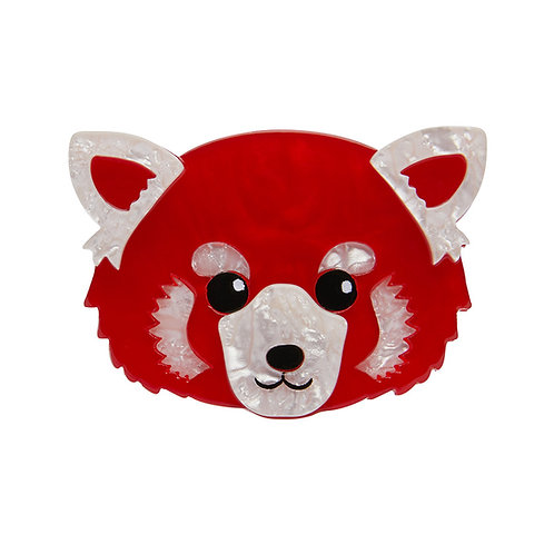Lesser Rusty Red Panda Brooch Brooch by Erstwilder | Bear-Cat