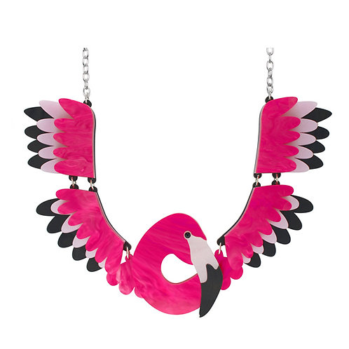 FLAMINGO COLLAR NECKLACE by Little Moose   Pink Bird   Patagonia