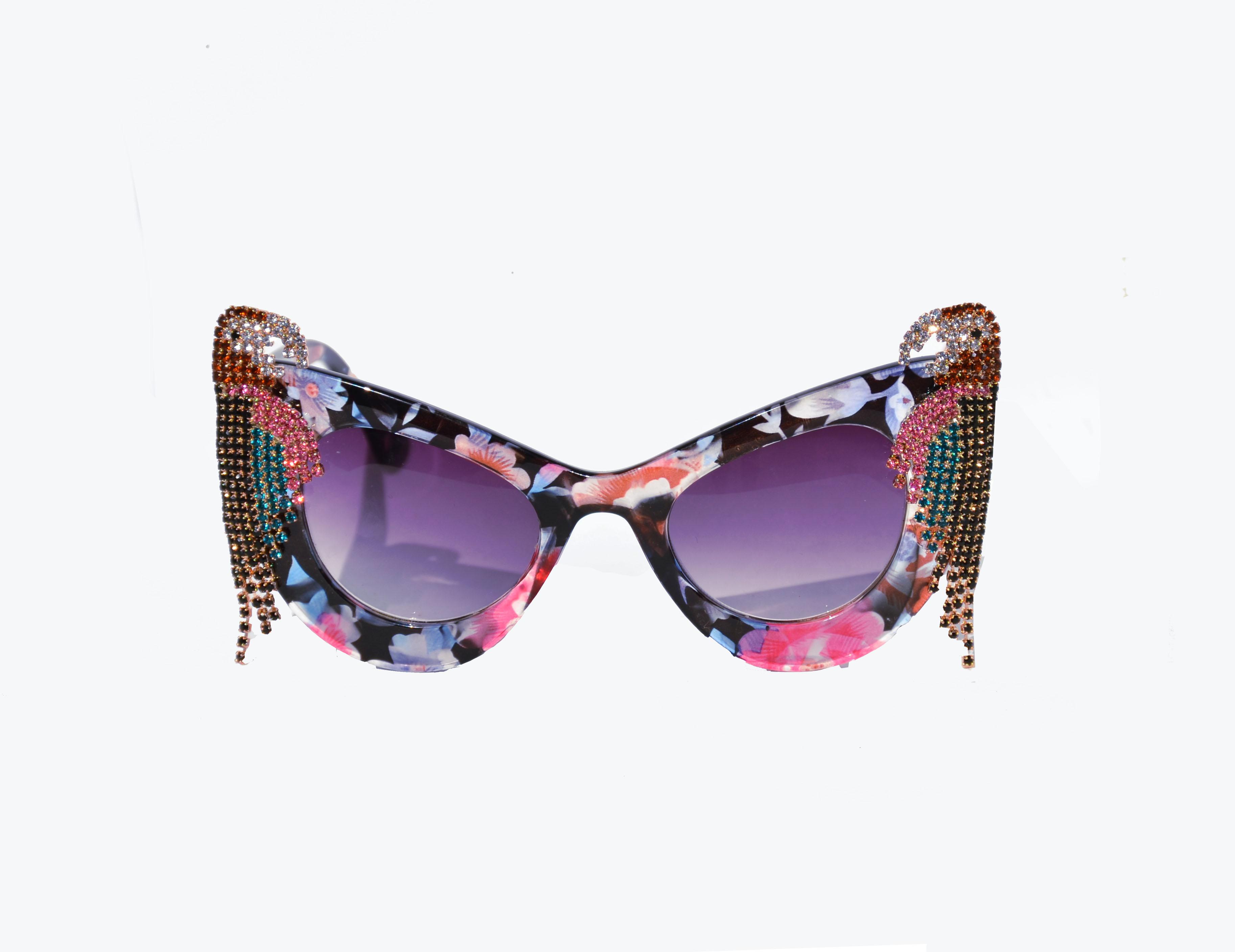 Pink Rhinestone Parrot Sunglass