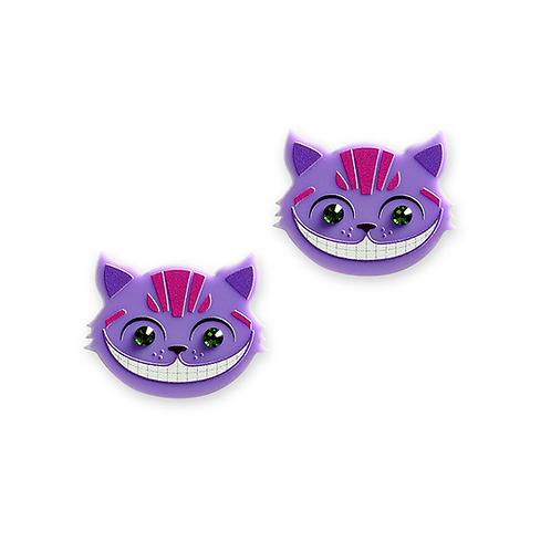 Chesire Cat Earrings by Little Moose | Alice in Wonderland