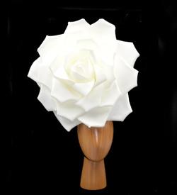 Large White Rose Headdress 50cm Costume