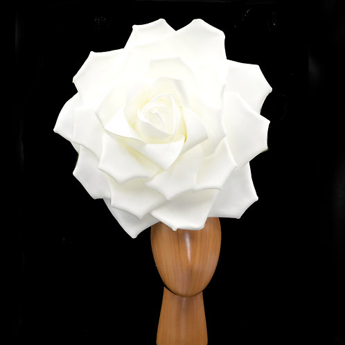 GIANT White Rose Queen Headpiece Fascinator | Multiple Colors Available