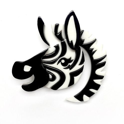 Zesty Zebra Brooch by Erstwilder