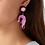 Thumbnail: Prawn Dangly Earrings by Little Moose | Pink Shrimp