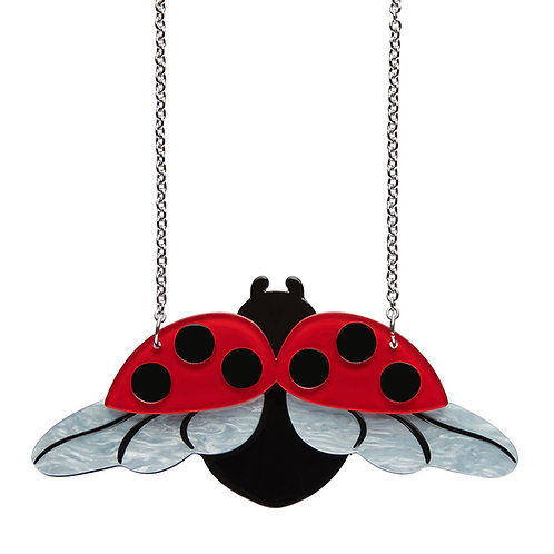 Fly Away Home Necklace by Erstwilder | Red Lady Bug