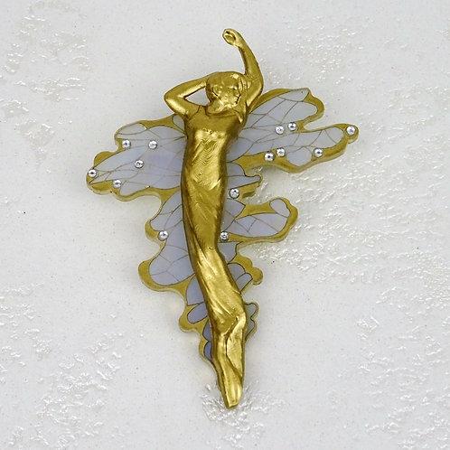 Water Bearer Art Nouveau 3D Printed Brooch by MissJ Jewelry