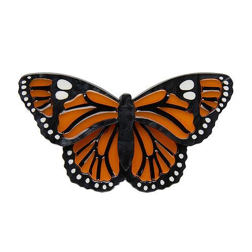 Prince of Orange Brooch by Erstwilder | Monarch Butterfly