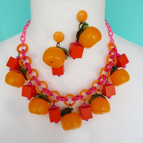 Orange Frutti What A Cutie! Tropical Fruit Salad Earrings and/or N