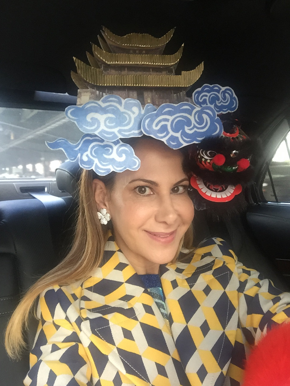 Chinese Yueyang Tower & Dragon Headpiece