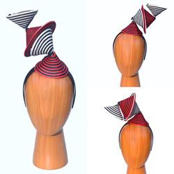 Black White Red Surrealist Modern Art Bauhaus Sculptural Hat