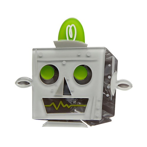 Does Not Compute Brooch by Erstwilder | Retro Robot Head