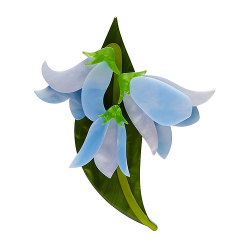 Favourite Flower Brooch by Erstwilder | Blue Bluebells Flower