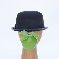 Magritte Son of Man Floating Green Apple