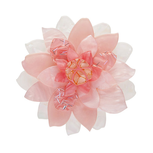 Darling of the Valley Brooch by Erstwilder | Pale Pink Flower