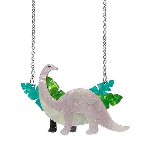 Erstwilder Dinosaurs I'll be Brach Purple Necklace