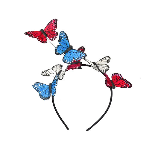 Red, White, & Blue Butterfly Headband