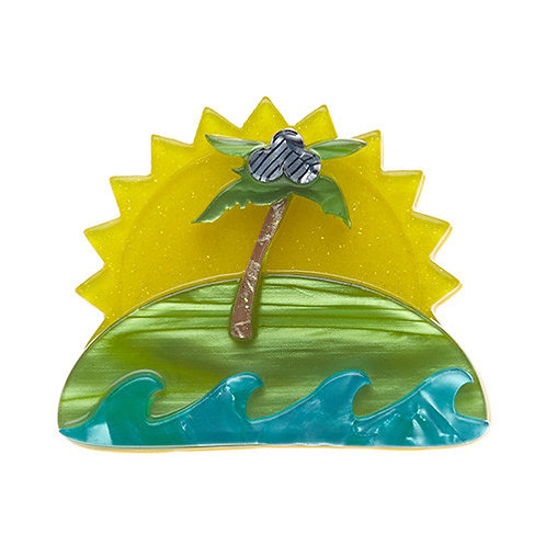 Island in the Sun Brooch by Erstwilder