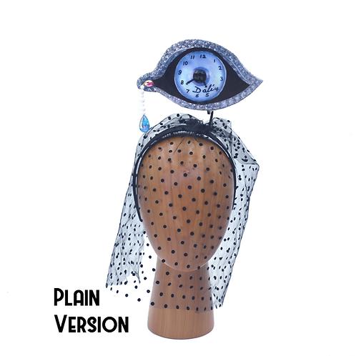 "Dali ""Eye of Time"" Teardrop  Clock Veiled Headband"