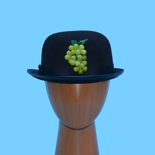 "Magritte Green Grapes Black Bowler Hat | Surreal Art |  Inspired by ""Son of Man"""