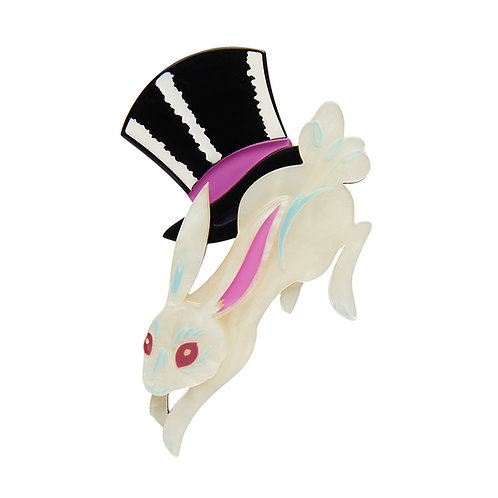Hat Trick Brooch by Erstwilder | Magician Hat | Rabbit Top Hat