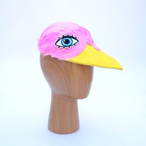 Pink Bird's Head Baseball Cap | Bird Fascinator Hat | Flamingo Costume