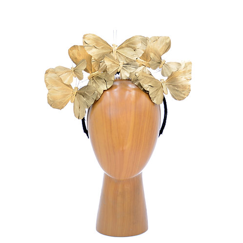"The ""Anna"" - 14K Metallic Gold or Silver Butterfly Fascinator Headband"