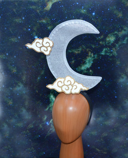 Crescent Silver Moon & Chinese White & G