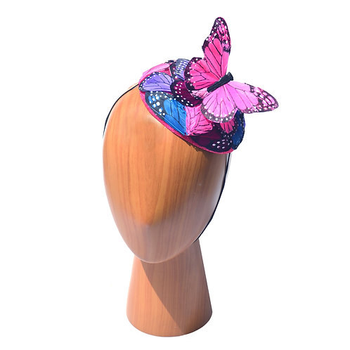 Purple, Pink, Blue Butterfly Pillbox