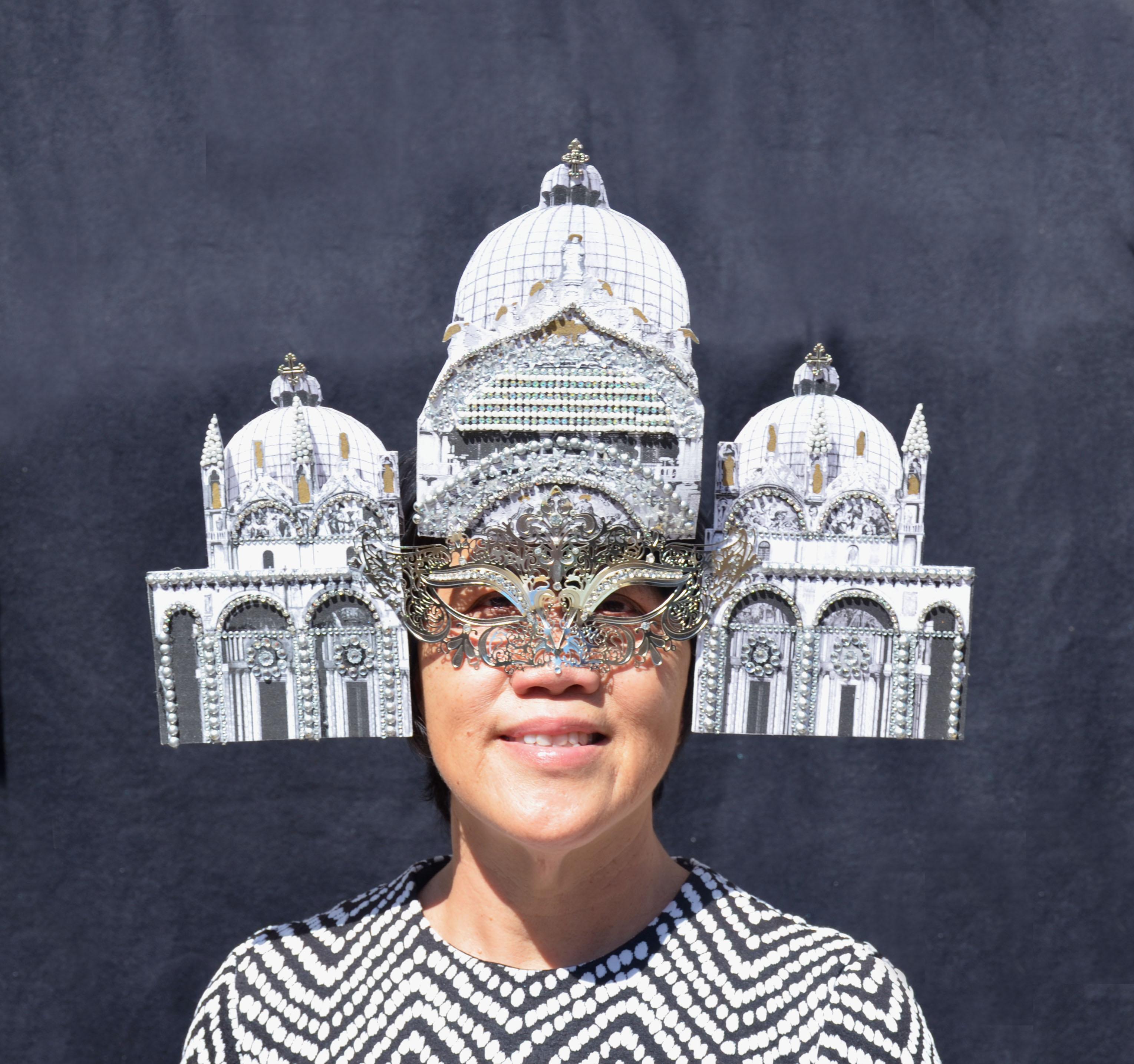 Saint Mark's Basilica Silver Venetian Masquerade Mask Surreal (1)