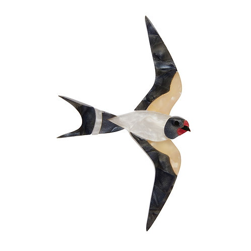 Wind Rider Brooch by Erstwilder | Swallow