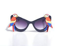 Laser-Cut Acrylic  Red Parrot Black Sunglasses
