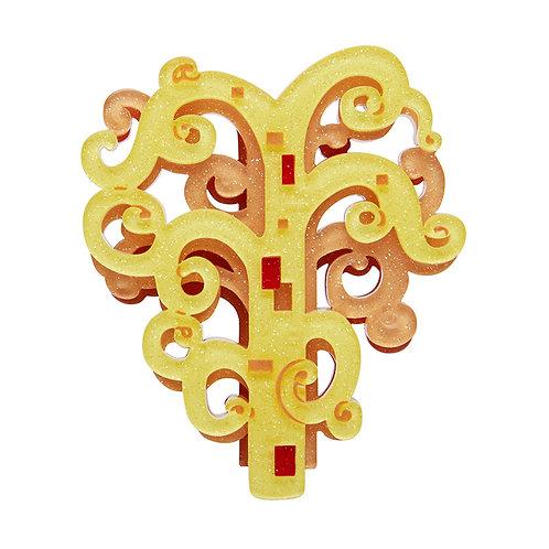 Tree of Life Brooch by Erstwilder   Gold Tree