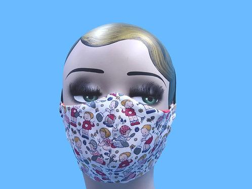 Kids Gardening Print Face Mask w/ Filter Pocket