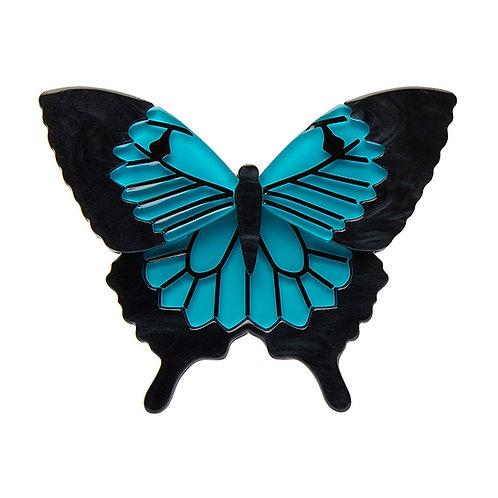 Blue Emperor Brooch by Erstwilder | Monarch Butterfly