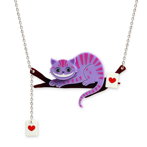 Chesire Cat Necklace by Little Moose | Alice in Wonderland