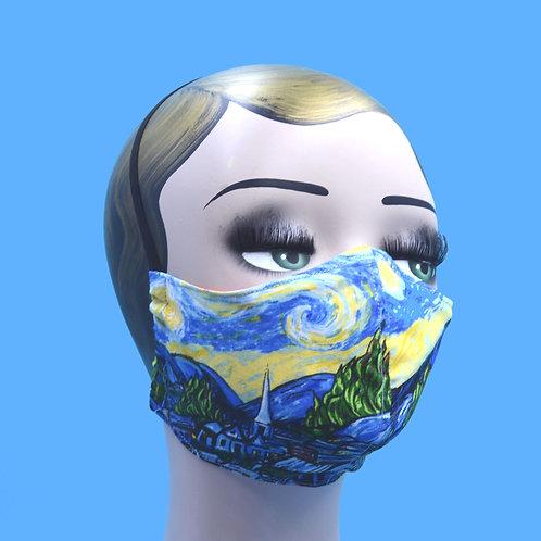 Vincent Van Gogh's Starry Night Face Mask w/ Filter Pocket