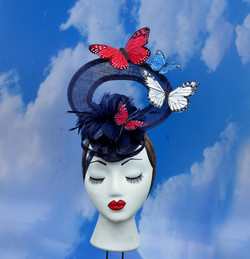 Red White Blue Butterfly Hat