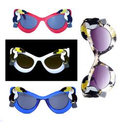 Retro Tiki Pinup Toucan Sunglasses Color