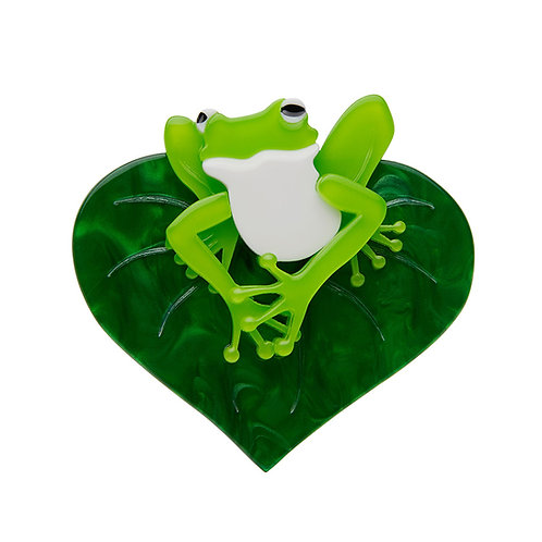 Lachy of the Lily Brooch by Erstwilder   Frog on Lily Pad