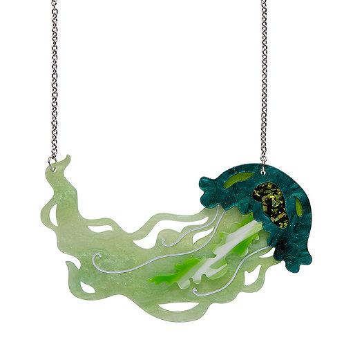 Slippin' Under Jellyfish Necklace by Erstwilder | Green