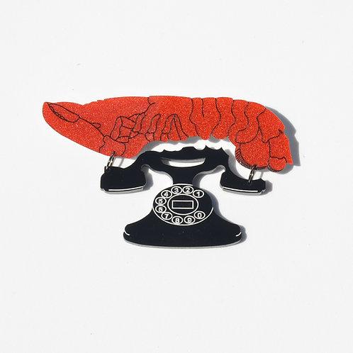Dali Lobster Telephone Brooch by MissJ Designs
